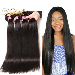 Nadula Raw Indian Hair 3Bundles Straight Human Hair Weave Bundles Remy Human Virgin Hair Extensions Indian Silk Bundles Wholesale Cheap Bulk