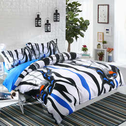 Wannaus New 3D Bedding Set 60S Cotton High Quality Brocade Zebra Printed 4-Piece Duvet Covers set Comforter Cover set