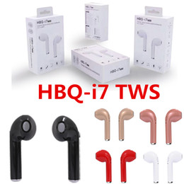 HBQ I7 TWS Twins Wireless Bluetooth Headphones Earbuds Earphones Mini Bluetooth Earbud with Mic No Charging Box for iPhone X 9 8 IOS Android