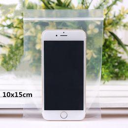 0.2mm 4x6cm 500pcs Thick PE Clear Zip Lock bag  Plastic Packaging Bags  White Transparent Zipper Reclosable Packing Pouch