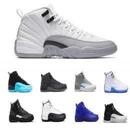 2018 Cheap shoes 12s Men basketball shoes French Blue Gamma Blue Grey Sports Shoes 12s XII Sneakers Athletics Boots