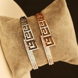 Classic Luxury Full Crystal Bangle & Bracelets For Women European Vintage Gold Plated Statement Bangles Indian Jewelry Accessories
