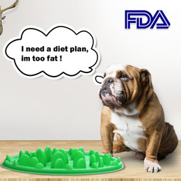 Dog Slow Feeder Food Bowl Pet Feeding Slicone Green Interactive For Dog Anti Choke Slip No Gulp