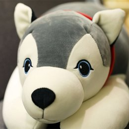 Cute husky doll feather cotton soft party dog pillow doll plush toy