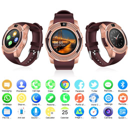 Intelligent Bluetooth Smart Watch V8 Brand Smartwatch SIM Camera for IOS iPhone x 8 7 6s Samsung S9 S8 S7 Edge Huawei Xiaomi Android Phone