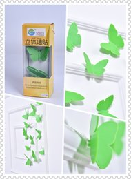(Promotion: Buy 1 get 1 free)Butterfly 3D Wall Stickers Green color(12pcs box)