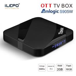 Tanix TX3 Max Android 7.1 Smart TV Box Amlogic S905W 2GB 16GB 2.4G Wifi HDMI Set-Top Box PK X96 Mini