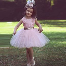 Pink Scoop Lace and Tulle Flower Girl Dresses Applique Tutu Girl's Dress Custom Made Formal Wear High Quality