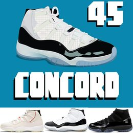 2019 New Mens Basketball Shoes Concord 11 11s Platinum Tint Prom Night Cap and Gown legend blue Barons Bred Infrared Trainer sport sneakers