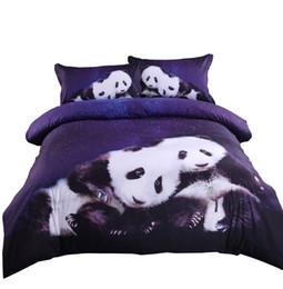 Wannaus New 3D Bed Set Comforter Cover set High Quality Panda Printed 4-Piece Duvet Covers set