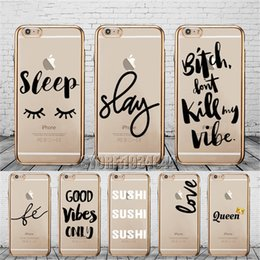 Luxury Portuguese Amor Love Queen Sushi Word Gold Plating Silicone Case For iphone 8 X 6s 7 Plus Transparent Crystal Clear Cover