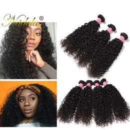 Nadula Raw Indian Curly Hair 4 Bundles Virgin Human Hair Extensions Kinky Curly Hair Weave Bundles Remy Human Wefts Wholesale Cheap Silk