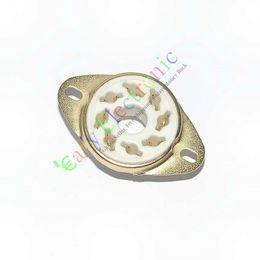 8Pin Gold ceramics Vacuum TUBE SOCKETS KT88 6550 EL34 6SN7 AUDIO tube amplifiers hifi parts