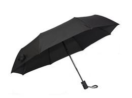 2018 New High Quality Wind Resistant Folding Automatic Umbrella Rain Auto Luxury Big Windproof Umbrellas Rain For Men Black Coating Parasol