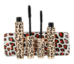 2 Magic Leopard Lashes Fiber Mascara Brush Eye Black Long Makeup Eyelash Grower waterproof Black Mascara products
