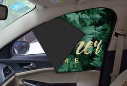 Summer car sunscreen insulation sunshade car window magnetic shade retractable sun visor 1 set 4pcs,freeshipping
