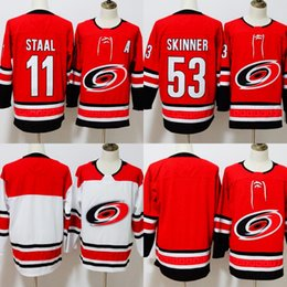 2018 Season 53 Jeff Skinner 11 Staal Carolina Jersey Hurricanes Jersey Blank No Name No Number Hockey Jerseys