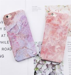free shipping For iphone 6 Plus Case Fashion Pink & Purple Marble Jade Pattern Back Cover Hard PC Slim Phone Case For iphone 6s 7 8 Plus Cas