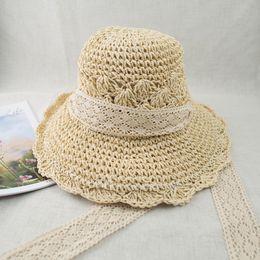 EPU-MH1802 2018 New Handmade Magic Wide Brim Shell Pattern Floppy Summer Vacation Sun Protection Straw Hat