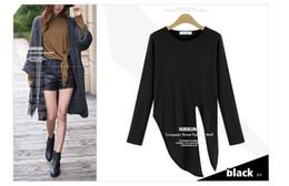 PT135 blouse summer tops t shirt women summer long sleeve cropped