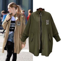Women's clothing autumn new European and American fashion long coat fat MM loose long sleeved coat jacket