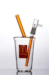 2018 Heady Cup Rig McDonalds Cup Beaker Bong White Dab Concentrate Oil Rig Cheech Glass Small Honey Cup Clear Free Shipping