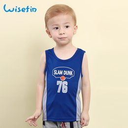 Wisefin Boys Basketball Summer Sleeveless T-Shirt Kids Boy Sport Vest Children Clothes Activewear Tops Breathable Baby Clothes