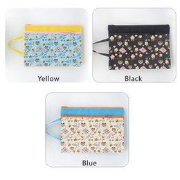 Zipper Bag A4 Double Layers ZipperPouch Clear Storage Bags Office Document Bags Document File Pocket, Animal Colour Random