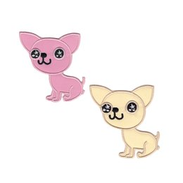 Cute puppy looks at you with tears. Children's super embroidered cloth stickers, DIY decorative patches, clothing accessories.