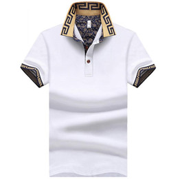 2018 heat sales men's brand t-shirts men's short-sleeved POLO t-shirts - white