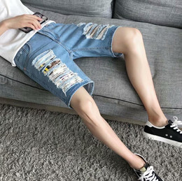 China's new brand, jeans shorts, holes, breathable and loose. Simple and fashionable, unique, satisfying your unique desire.