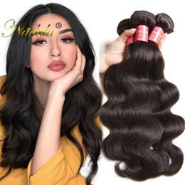 Nadula Malaysian Virgin Hair Bundles Body Wave Human Hair Extensions Remy Human Hair Weave Wavy Wefts Wholesale Weave Cheap Bulk 1-5Pcs