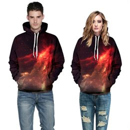 The explosion flame boutique digital printing Couture loose size Hooded Sweater