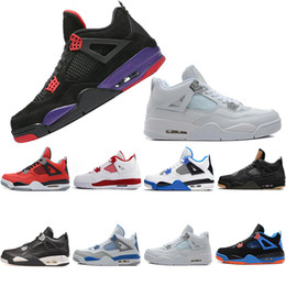 New Mens basketball shoes IV 4s NRG RAPTORS Pure money Purple red Angry bull Women Raptors Military Blue mens Sports trainers sneakers cheap