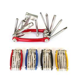 Bike Tools 11 in1 Bicycle Repairing Set Bike Repair Tool Kit Wrench Screwdriver Chain Carbon Steel Cycle Multifunction Tools