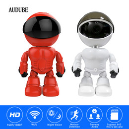 2018 top fashion 1.3MP home & garden indoor audube 960P CMOS HD wireless IP night vision WiFi robot camera frees hipping