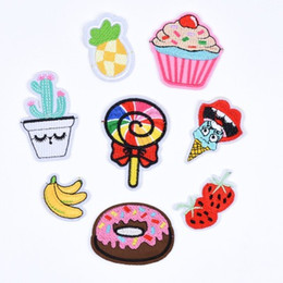 Custom Design Embroidery fruit Badge Patches for Clothing Iron on Transfer Applique Sticker for Hat Jacket Jeans DIY Bag Patches