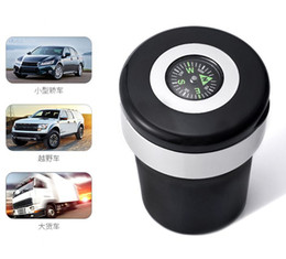 Car Accessories Car Compass Ashtray with LED Ashtray factory, freeshipping