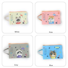 Zipper Bag A4 Zipper Pouch Storage Bags Zipper Document Folder Larger Water-resistant Storage Bags Travel Organizers, Cat Colour Random