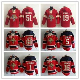 Florida Panthers Red Hoodies 51 Brian Campbell 19 Scottie Upshall Jersey Jackets Women Men Jersey Hoodies Hockey Sport Jerseys Embroidery