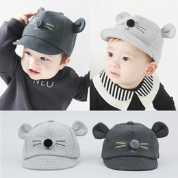 Cartoon Cat Design Baby Hat Baseball Cap Cute Cotton Baby Boys Girls Summer Sun Hat Spring Autumn Peaked Cap free shipping 2018 new hot sale