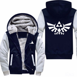 US size High Quality The Legend of Zelda Link Men Thicken Hoodie Women Anime Zipper Coat Jacket Sweatshirt Cosplay Costume Plus