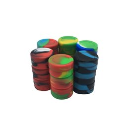 10pcs lot Non-stick 5ml Butane Hash Oil Silicone Container For Wax Oil Slicks Storage Container With Lids