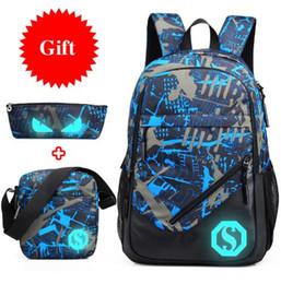 aed22b981c2 Waterproof oxford fabric boys school bags backpack for teenagers pencil  case blue book bag boy one shoulder schoolbag backpack