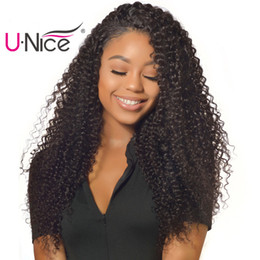 UNice Hair Peruvian Kinky Curly Human Hair 3 Bundles Brazilian Virgin Human Hair Extensions Raw Indian Weave Bundles Malaysian Weave Cheap