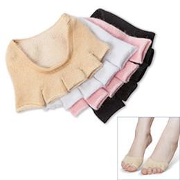 women cotton yoga socks fashion lady invisible non-slip five finger open toe socks