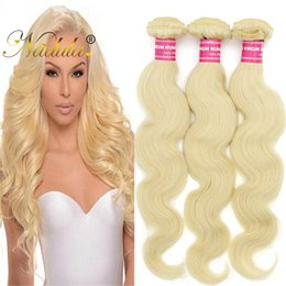 Nadula Malaysian Body Wave Human Hair Weave 613 Blonde Bundles Virgin Hair Extensions Cheap Human Hair Bundles White Blonde Wholesale Cheap