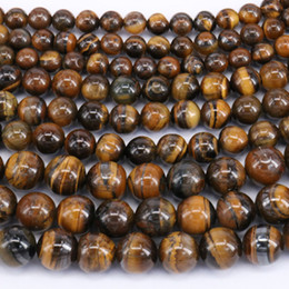 """Natural Grade 4 6 8 10 12 14 16 18 20mm African Roar Tiger Eye Stone Round Loose Beads strand 15"""""""