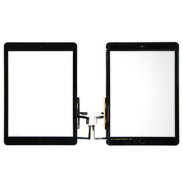 Touch Screen Glass Panel Digitizer with Buttons Adhesive Assembly for iPad Air free Shipping