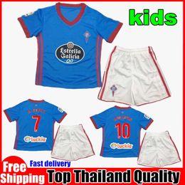 Top thai quality 2017 2018 Celta Vigo kids kit soccer jersey 17 18 Celta de Vigo BONGONDA HERNANDEZ NOLITO home child football shirt jerseys